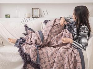 Primavera y el verano 2020 New Nordic algodón de fibra de bambú de la franja de la manta del sofá de verano por el aire acondicionado Por Cool Summer Por Ocio
