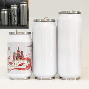 cup photo MDF di sublimazione di trasferimento di calore in bianco può 280ml / 380ml / 450ml trasferimento DIY304 in acciaio inox thermos tazza di calore può essere stampato