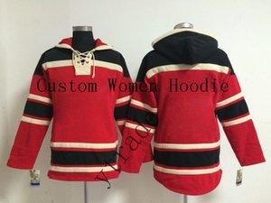 Женская Customized Хоккей Толстовки женские зимние куртки Hoodie хоккейные длинный рукав осень Женский Открытый Wear Размер S-XXL
