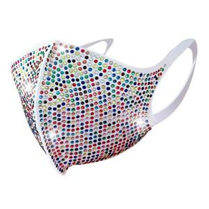 2020 neue Art und Weise der reizvollen Frauen glänzende Strass Schleier Weibliche Farben-Diamant-Charme-Gesichtsmaske für Tanzparty-Accessoires Schmuck
