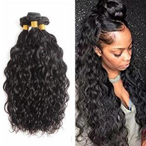 말레이시아 처리되지 않은 인간의 머리카락 원시 머리카락 확장 8-28inch 물 웨이브 싼 번들 8A 도매 습식 및 물결 모양의 머리카락