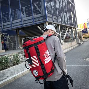 NOVO Homens Mulheres Moda Mochila Ombro Grande Viagem Capaciy Bag Masculino Esporte Fitness Gym Cilindro Bags Hip Hop Backpack