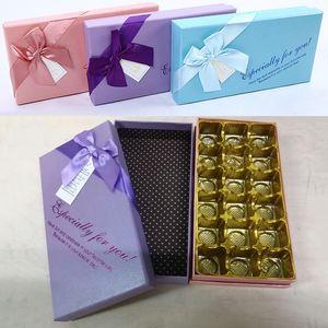 Chocolat Saint Valentin boîte d'emballage la fête des mères 18 Grids Coffrets cadeaux bricolage chocolat festival bonbons Boîtes emballage cadeau boîte d'emballage BH2945 TQQ