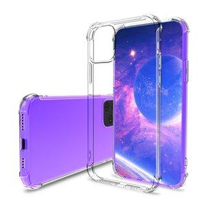 Clara prueba de golpes de aire casos de teléfono celular del amortiguador de TPU para Iphone 12 Pro Max Samsung Galaxy Note 20 Ultra S20 Xiamo Mi Caso 10