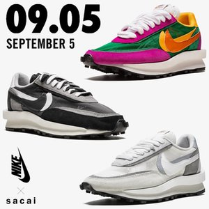 Top Quality Sacai Nike LDV Waffle 3.0 Sneakers Nylon Daybreak Double Trainers Green Gusto Chitose Abe Triple LeBron James Board Femme Hemme Men Women Casual Shoes Running Shoes