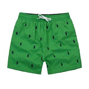 منتجات جديدة الأزياء والتطريز الصغيرة الحصان الفاخرة الرجال السراويل الشاطئ شاطئ الأمواج السباحة الرياضة عارضة نقية اللون الرجل ملابس السباحة