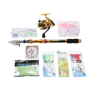 Lixada Portable Lure Rod Set Spinning Rod And Fishing Reel Combos Full Kit Telescopic Fishing Rod Pole With Reel Line Lures
