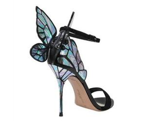 Heißer Verkauf- Leder Pumps Schmetterlings-Absatz-Sandelholz für Frauen Sexy Stilett-Schuhe