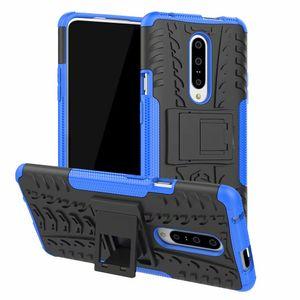 Casos de telefone híbrido para OnePlus 7T Pro / OnePlus 7 Pro 6 T6 5 T5 8 Pro Hard Case Armadura TPU Heavy Duty Suporte de silicone capa