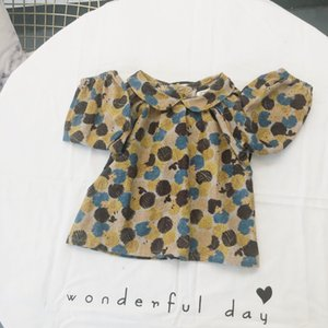 Kaicity2018 Autumn New Products Girls Korean-style Hedgehog Peter Pan Collar Brushed Long-sleeved Upper Garment Children Cotton