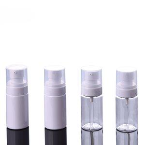40ML blanc PET transparent vide Bouteilles Spray gros cosmétiques contenant airless pompe bouteilles vides pour Lotion Emulsion