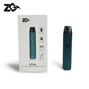 Original ZQ Xtal Kit 520mah battery 1, 8 ml Pod system E Cigarettes Vaporizer Kit Vape cartridge 2020 New Coming Best Taste