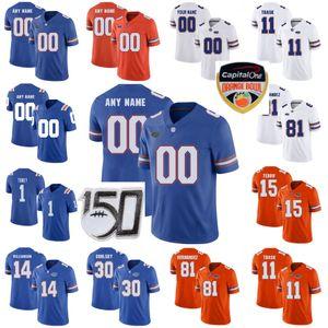 Florida Gators College Football Jerseys 6 Jeff Driskel Jersey 15 Tim Tebow 13 Feleipe Franks Jacob Copeland Emmitt Smith personalizado costurado