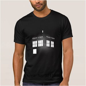 Anlarach Character Funny Casual tardis men's t shirt Gift doctor who DR WHO UK flag men t-shirt Letter men's tshirt