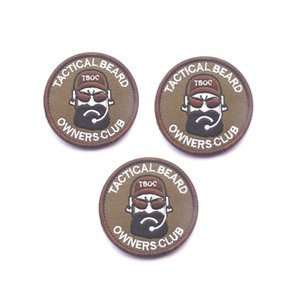 """3Pcs 7CM tattico Barba Owners Club """"PANE MAN"""" Ricamo Armband Morale distintivo della zona di tessuto Armband Sticker Patch militari per Borse Cap"""