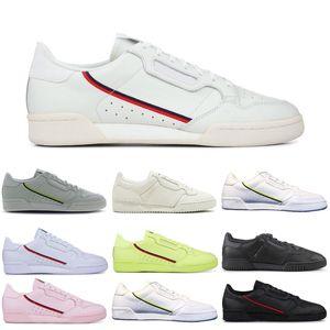 Adidas Boost Powerphase Calabasas Continental 80 Повседневная обувь Тройной Белый Черный Розовый Желтый Женщины Мужская Тренер Спорт на открытом воздухе кроссовки
