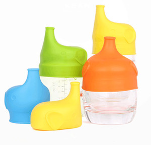 Silicone Sippy Lids for baby drinking Silicone Sippy Lids Make Most Cups Sippy Leak Proof Cups lid elephant design Anti-overflow cup lid