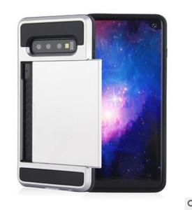 Pour Samsung S11 S11E armure TPU antichocs Faites glisser la carte de crédit Wallet Slot Phone Case pour Samsung S10 S9 S8 cas