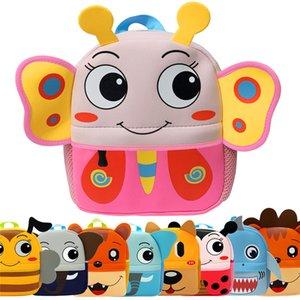 3D Crianças animal Mochilas Brand Design Menina Meninos Backpack bebê Crianças Bolsa Escola Bags Kindergarten dos desenhos animados Bag mochila escolar