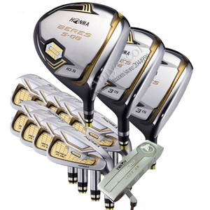 New Golf Clubs HONMA S-06 Golf Full Set 3Star Golf Wood Irons Putter R or S Graphite Shaft Free Shipping No Bag