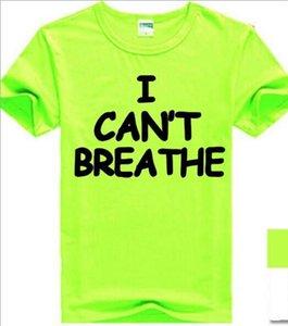 Luxury Fashion Hot Sale Designer Letter men Casual Clothes T-shirts I can't breathe men cotton T-shirts M 02 Y200603