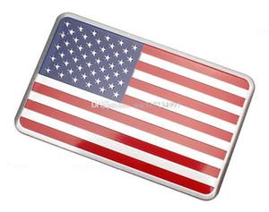 10 pcs / lot Métal américain nous drapeau autocollant De Voiture logo Emblème Badge Voiture-Style Autocollant Pour Jeep / Bmw / Fiat / VW / Ford Audi / Honda / Toyota Lada