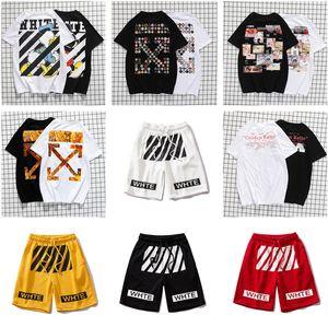 OFFWHITE 2020ss Hip Hop algodón Cenacolo camiseta de la ropa aficionados cuello redondo Tops Errores verano de la manera del conejito de la manga corta tees