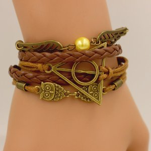 2020 New Hot Vente Bracelet Owl Artifact Harry Potter aile d'ange Bracelet Fashion Bracelet sauvage de haute qualité