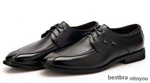 Zapatos del asunto Hombre Artificial PU planos del cuero de los hombres aumentó dentro de los zapatos de moda formal vestido de novia Calzado Hombre