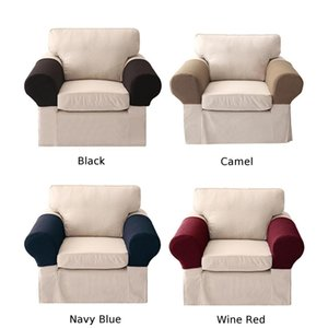 Non-Slip Solid Stretch Fit Couch Arm Protector Стул Упругие Диван подлокотники Covers