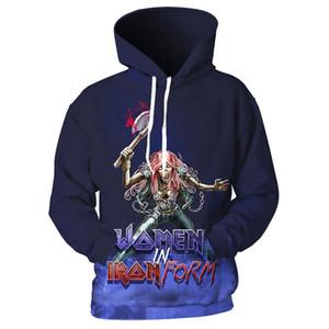 Iron Maiden Hoodie Hombres Mujeres Sudaderas Rock Hoodies Cool Eddies Jumpers Quality Sudaderas con capucha Pareja Tops Fans Regalos 2019 Nuevo