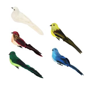 5Pcs Artificial Foam Birds, Clip on Feathered Bird Ornaments, DIY Craft for Home Garden Lawn Decoration Party Accessories