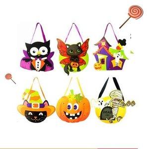 Подарочная упаковка детская DIY Halloween Handbag Candy bag детский сад подарочная сумка подделки Halloween Candy Collection Bag сумки для хранения EEA448N