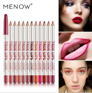 Drop Shipping-12pcs / Lot de haute qualité Menow Lip Doublure à lèvres Pencil Menow Lip Pencil Génération-2 Louches vraies Lèvres Doublure à lèvres Pencil Étanche Maquillage Outils