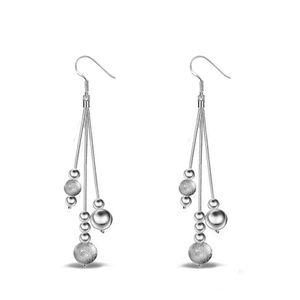 Orecchini da sposa per tre fili sposa imitazione argento 925 chic orecchini di rame placcato lusso gioielli in argento fidanzamento Orecchini