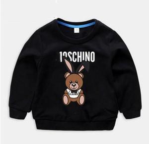Marca Designer de Roupas Infantis Menina Do Bebê Menino camisa de manga Longa Moda Impressão de Algodão Roupas Designer Mens Designer T-Shirt