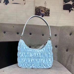 Spring Arrival! New Desigin Luxury Nylon Pleated Nylon Hobos Bag Handle Bag Colorful Desigin Style For Women Free Shipping