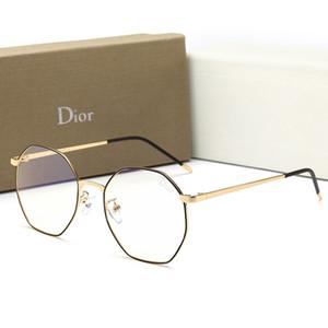 Marca de fábrica de los hombres gafas de sol de diseñador de marco completo gafas adumbrales para mujeres hombres nueva moda anti-azul luz plana gafas de espejo con caja