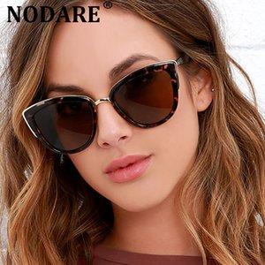NODARE 2020 gatta sexy occhiali da sole occhio Donne Vintage Gradient Eyewear per la femmina specchio retro modo Feminino UV400