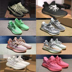 NEW zebra shoes Men women GID pink Static Refective Triple Black حذاء رياضة EG7962 Gid الوهج كلاي ترو