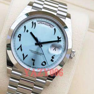 Top-Qualität Uhrmens 41mm Sapphire Men Day Date altarabische Automatik-Uhrwerk mechanische Uhren Fegen Edelstahl Armbanduhren
