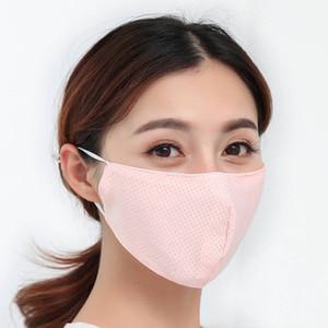 cara designer de mascarar senhoras laváveis gelo seda mascarar transfronteiriça máscara protetor solar véu feminino proteção UV respirável nova reutilizáveis japonês