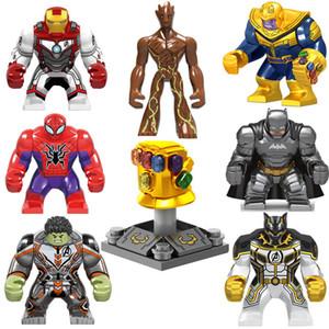 Super Hero Actionfigur Avengers Infinity Gauntlet Thanos Energy Steinhandschuhe Iron Man Hulk Schwarzer Pather Batman Spider Man Baustein