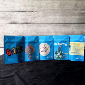 COOKIES California SF 8th 3.5g Mylar Borse a prova di bambino 420 Confezioni Gelatti Cereali Latte Gary Payton Biscotti Dimensione della borsa 3.5g-1/8 Borse