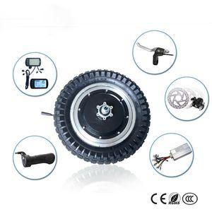 12 pulgadas rueda motor de cubo eléctrico con LCD Throttle palanca de freno e bicicleta conversión kit 48v 250w 350w BLDC cubo del motor neumático estrecho