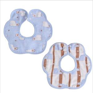 2 PCS Lot Bibs Burp Cloths Baby Boys Girls Cotton Gauze Bib for Newborn Infant Toddler Kids Convenient