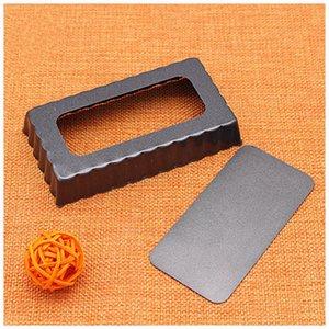 rectángulo de 4 pulgadas, tamaño pequeño, pequeño cordón, rectángulo, bandeja de horno antiadherente, bandeja de pastel de fondo abierto, fácil de torta de desmoldeo molde de cocción