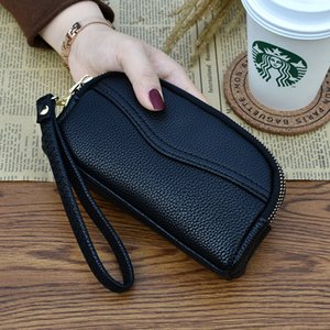 New ladies holding bags double zipper edited personalized mobile phone coin bag fashion zero wallet