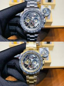 2 стили Orologio Di Lusso Master роскошные мужские наручные часы La Montoya 116500LN 116520 116519 ажурные скелет из нержавеющей стали мужские часы