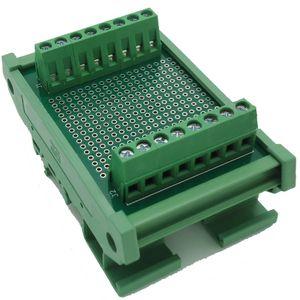 Doble cara PCB Bloques terminales de distribución de prueba del tablero de prototipos riel DIN